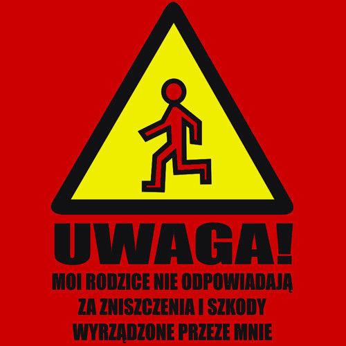 t-shirt Uwaga