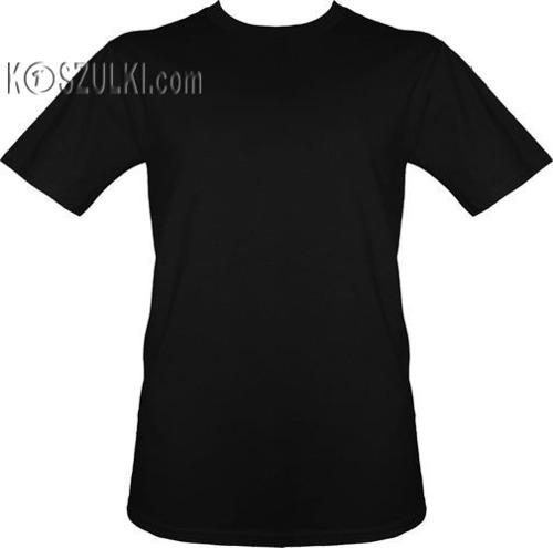 t-shirt bez nadruku- Czarny