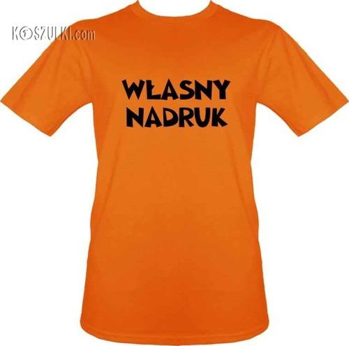 t-shirt z własnym nadrukiem- Pomarańczowy
